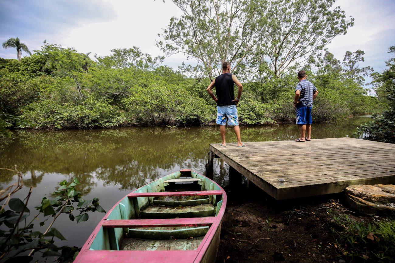 Pescadores à beira do Rio Ratones - Anderson Coelho/ND