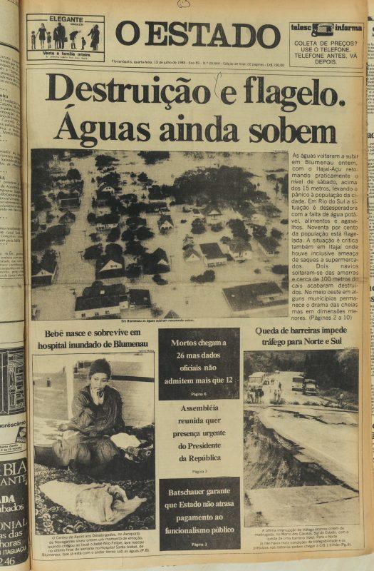 Reportagem do jornal O Estado de 13 de julho de 1983 – Foto: Anderson Coelho/O Estado/ND