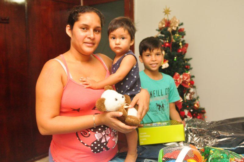 Este será o primeiro Natal de Steven, filho mais novo de Emilly Marcano – Foto: Gabriel Lain/ND
