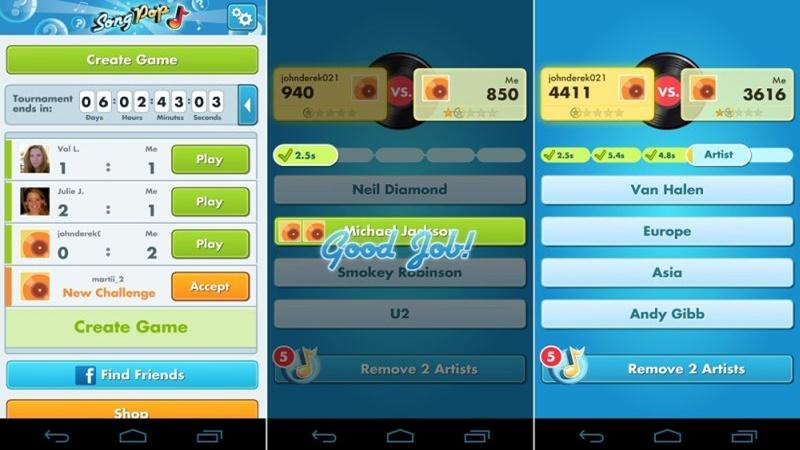 SongPop (2012) – com mais de 3 milhões de downloads em um mês, foi um dos jogos mais populares do Facebook. Também disponível via aplicativo, era possível desafiar amigos em batalhas musicais para ver quem acertava as músicas mais rápido. - Crédito: reprodução da internet/33Giga/ND