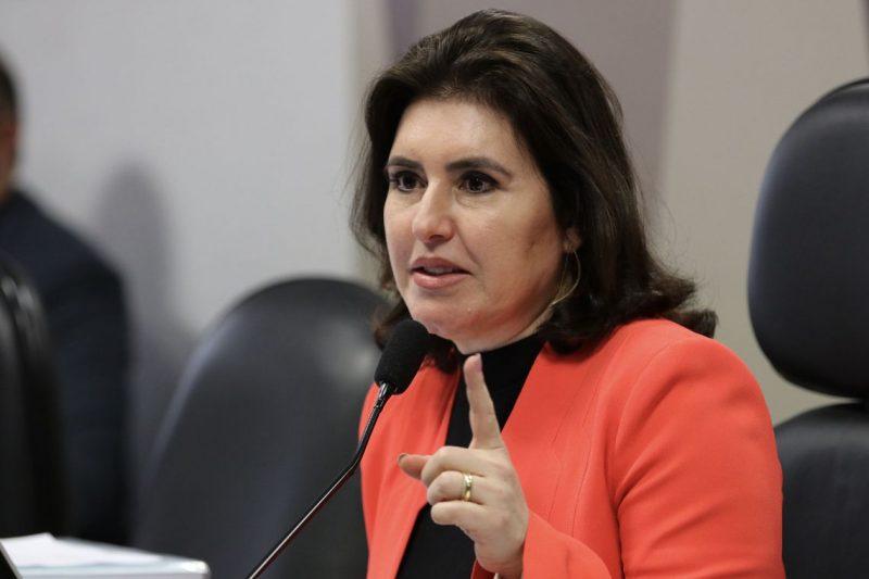 A presidente da CCJ, senadora Simone Tebet, durante a reunião deliberativa para análise da PEC 6/2019, que modifica o sistema de Previdência Social. – Foto: Fabio Rodrigues Pozzebom/Agência Brasil/ND