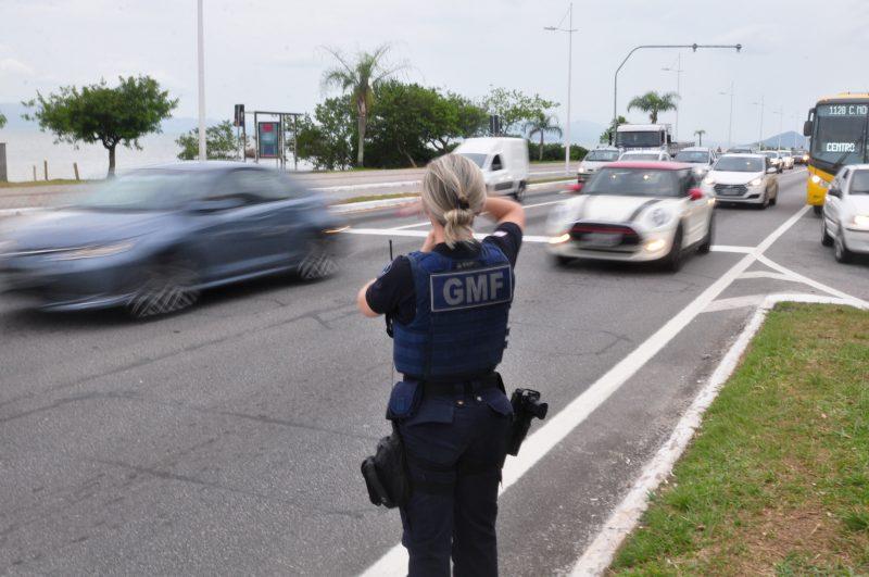 GMF promove a Onda Azul para escoar o fluxo da Avenida Beira-Mar Norte. Foto : Gabriel Lain/ND