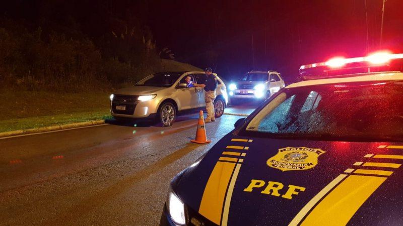 PRF registrou aumento no número de motoristas embriagados em relação à sexta-feira e ao final de semana anterior – Foto: PRF/Divulgação/ND