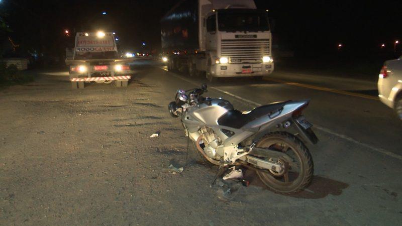 Acidente envolveu caminhão, carro e moto na BR-280 – Foto: Edivaldo Honório/NDTV