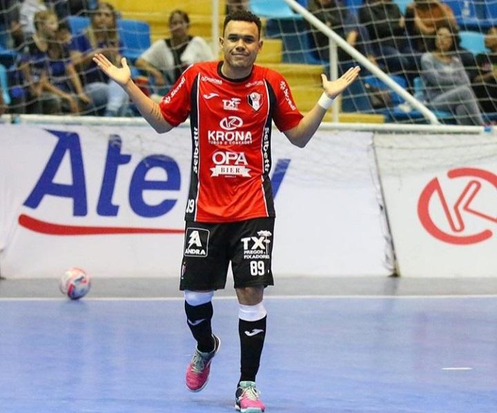 Dieguinho continua no Tricolor e tem contrato até dezembro de 2020 – Foto: Juliano Schmidt/JEC Futsal/Divulgação