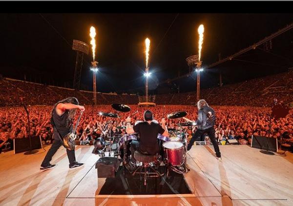 MetallicaA Metallica fará cinco shows no Brasil em abril de 2020. Recebem as apresentações do grupo Porto Alegre, São Paulo, Curitiba e Belo Horizonte. - Reprodução/Instagram