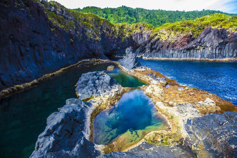 Piscina natural de Simão Dias, no Fajã do Ouvidor, Ilha de São Jorge – Foto: Joel Pacheco/Divulgação/ND