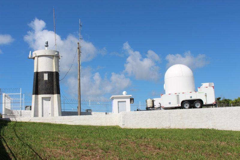 Radar meteorológico em Araranguá – Foto: Defesa Civil de Santa Catarina/Divulgação/ND