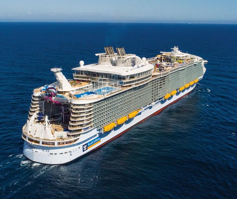 Royal Caribbean Symphony of the Seas (2018): 228 mil toneladas, 362,1 metros de comprimento e 72,5 metros de altura - Divulgação - Divulgação/Rota de Férias/ND