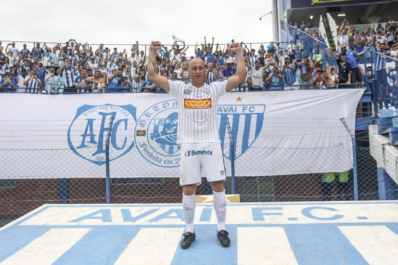 Marquinhos se despediu dos gramados em 2019, em clássico contra o Figueirense – Foto: Marco Santiago/Arquivo/ND