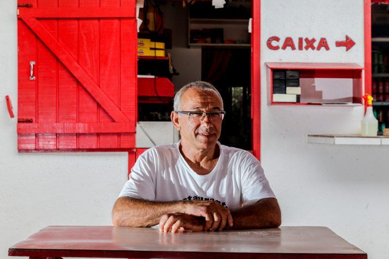 Alécio Viera dedicou 39 anos da vida ao bar que leva seu nome – Foto: Anderson Coelho/ND