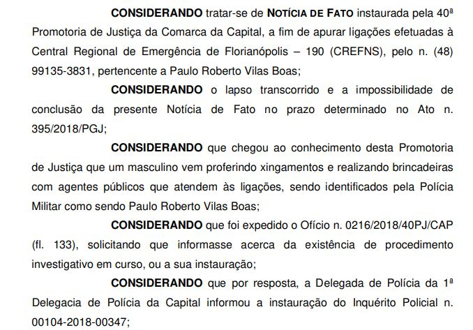 "Procedimento investiga <span style=""font-weight: 400;"">crime de desacato cometido por Paulo</span>"