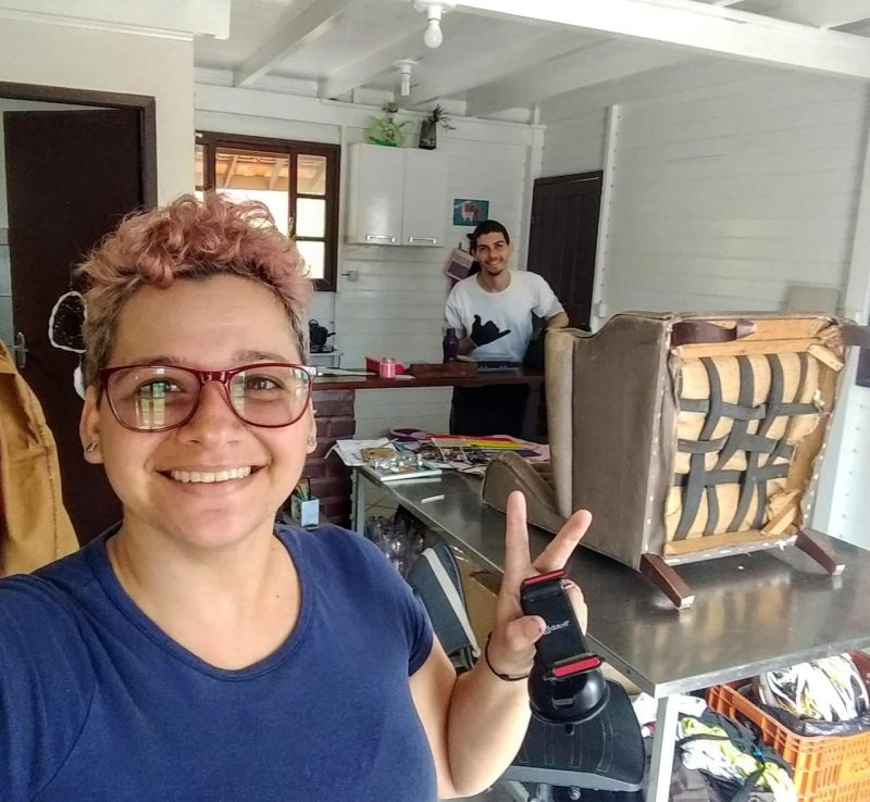 Amigos e hoje sócios, Paula Freitas e Jacson Malheiros, do Saúva Lab – Foto: Divulgação/ND
