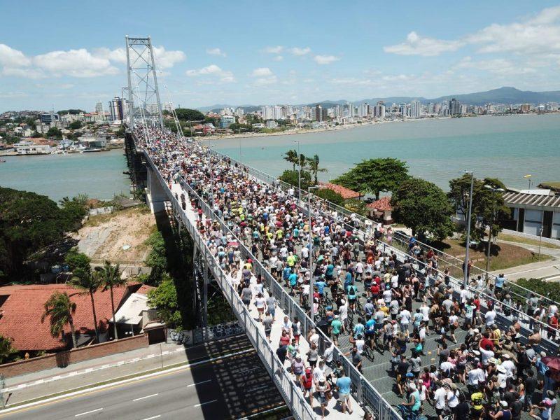 Ponte Hercílio Luz foi reinaugurada no dia 30 de dezembro – Foto: Leonardo Sousa/PMF/Divulgação/ND