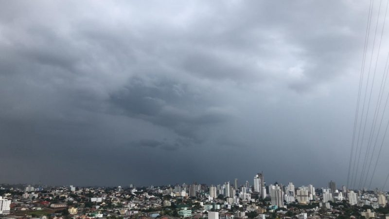 Tempo fechado em Chapecó – Foto: Willian Ricardo/ND