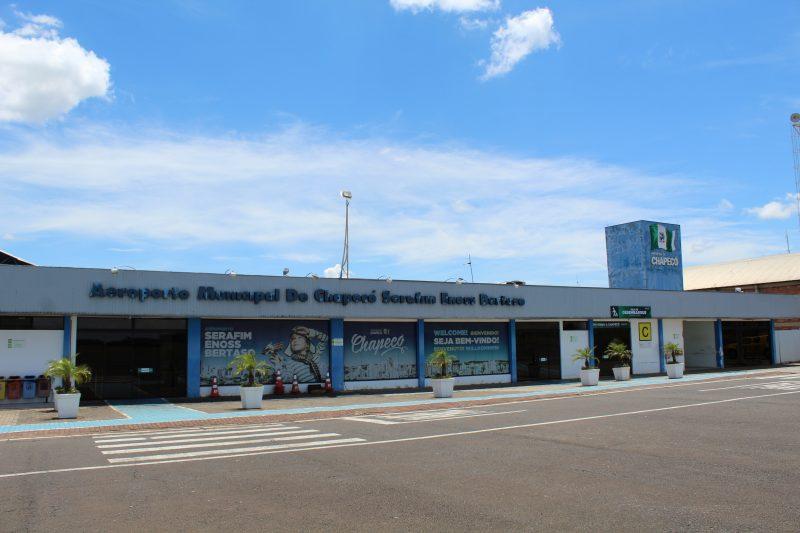Ocorrência foi registrada na tarde desta segunda-feira (29) no Aeroporto Serafim Enoss Bertaso – Foto: Secom/Divulgação/ND