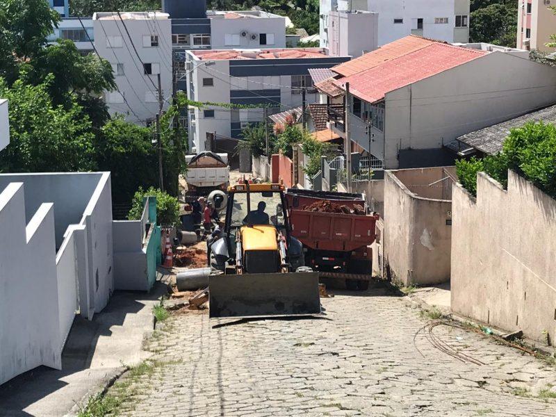 Obras foram realizadas na rua
