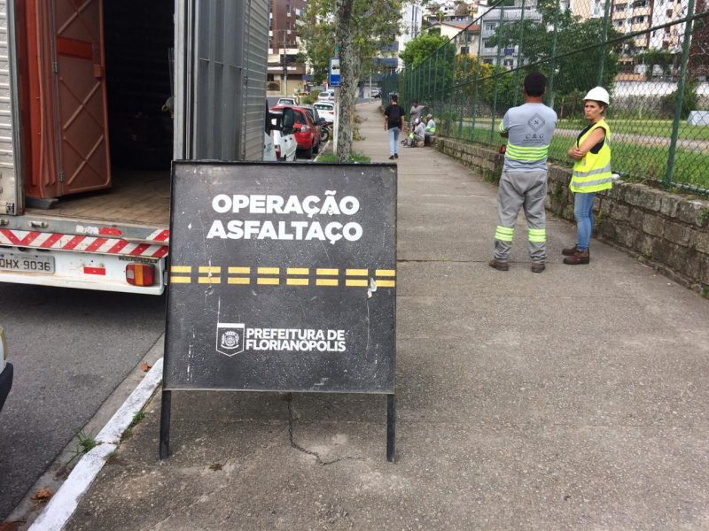 Operação prevê intervenções em 150 quilômetros de malha viária em todos os bairros de Florianópolis -PMF/Divulgação/ND