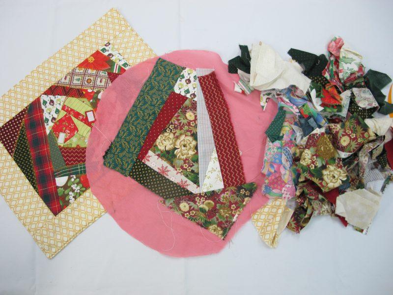 Pequenos pedaços de tecidos, antes descartados, ganham novas formas pelas mãos da aluna Marizete, com total aproveitamento de materiais – Foto: Divulgação/ND
