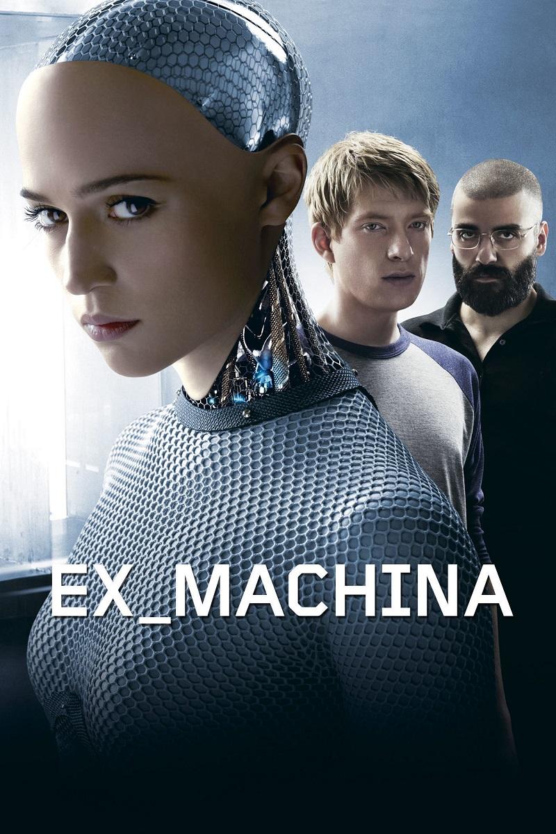 Ex_Machina: Instinto Artificial (2015): Um programador ganha uma semana na casa de campo do CEO da empresa, um brilhante e recluso bilionário. Lá, ele recebe a tarefa de testar a inteligência artificial de uma androide enigmática e sedutora. - Crédito: Divulgação/33Giga/ND