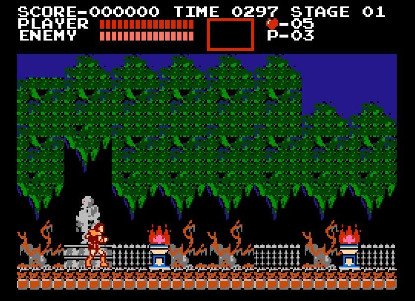 Um dos maiores clássicos da Konami, o Castlevania estreou em 1987, no NES. - Crédito: Reprodução/33Giga/ND