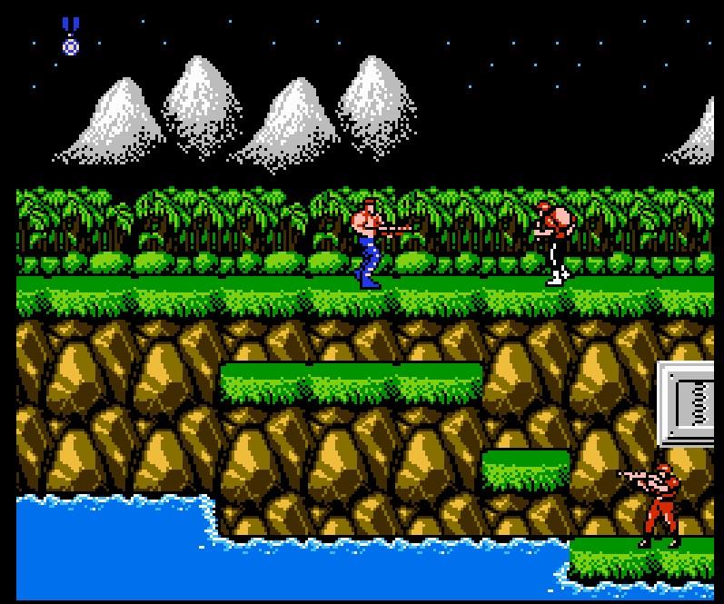 Contra era um dos jogos mais desafiadores do NES e ganhou diversas versões, ao longo dos anos. - Crédito: Reprodução/33Giga/ND