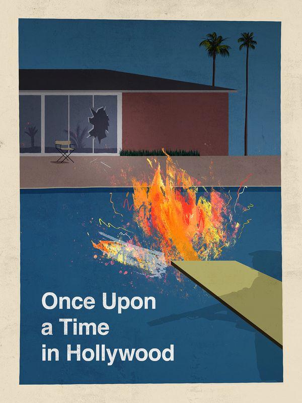 Era uma Vez em... Hollywood – Pôster de Ian Calleja inspirado na arte de David Hockney. - Crédito: Divulgação/33Giga/ND