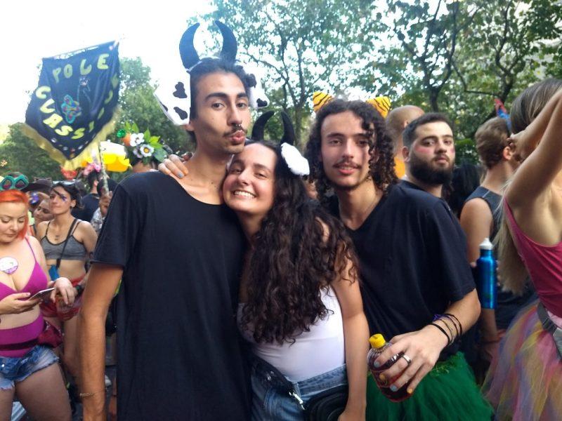 O Tigrão Gabriel Pantaleão, e as vaquinhas João Vitor Antunes Camargo e Valentina Panerai - Bruna Stroisch