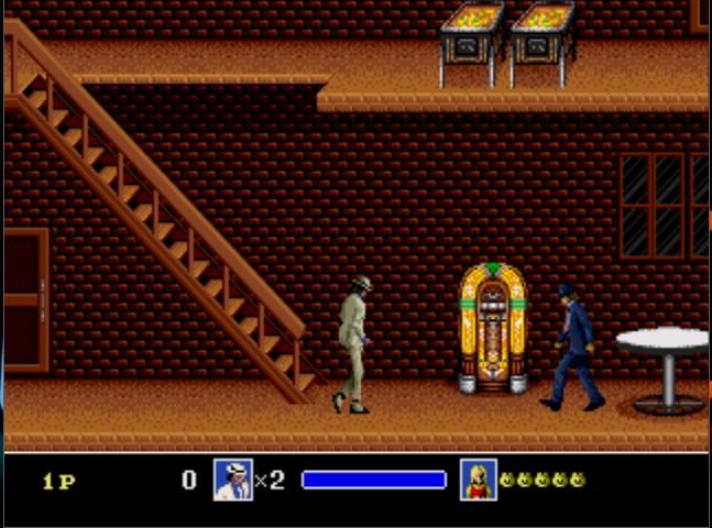 Até o rei do pop teve um game. Michael Jacksons Moonwalker foi lançado em 1989, para Master System e Mega Drive. - Crédito: Reprodução/33Giga/ND
