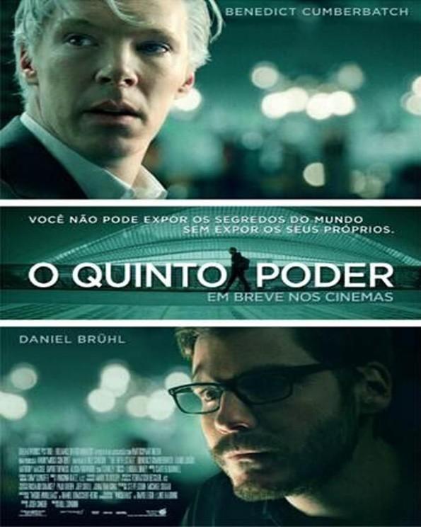 O Quinto Poder (2013) – Nada mais do que a história do polêmico website Wikileaks. O filme é narrado por Daniel Domscheit-Berg, amigo do criador Julian Assange, que conta como o crescimento e a influência do site levou ao fim dessa amizade. - Crédito: Divulgação/33Giga/ND