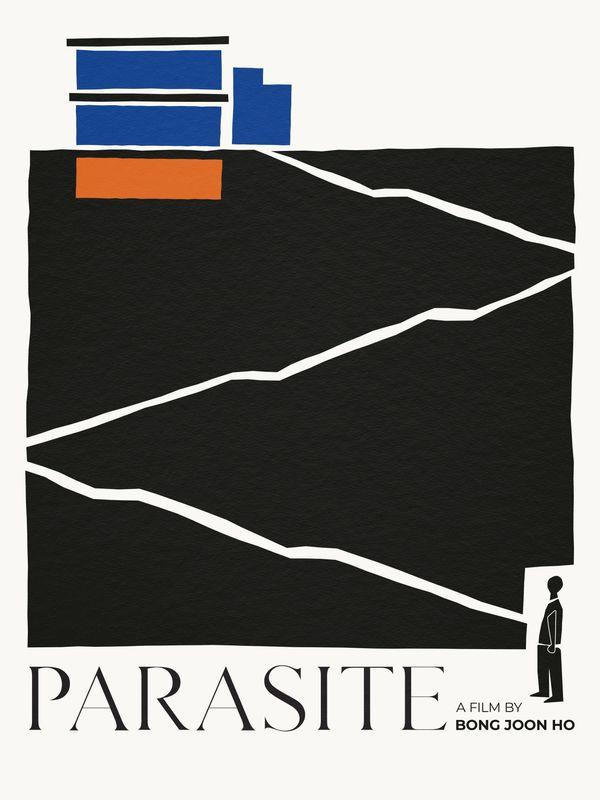 Parasita – Pôster de Nicole Dai inspirado na arte de Saul Bass. - Crédito: Divulgação/33Giga/ND