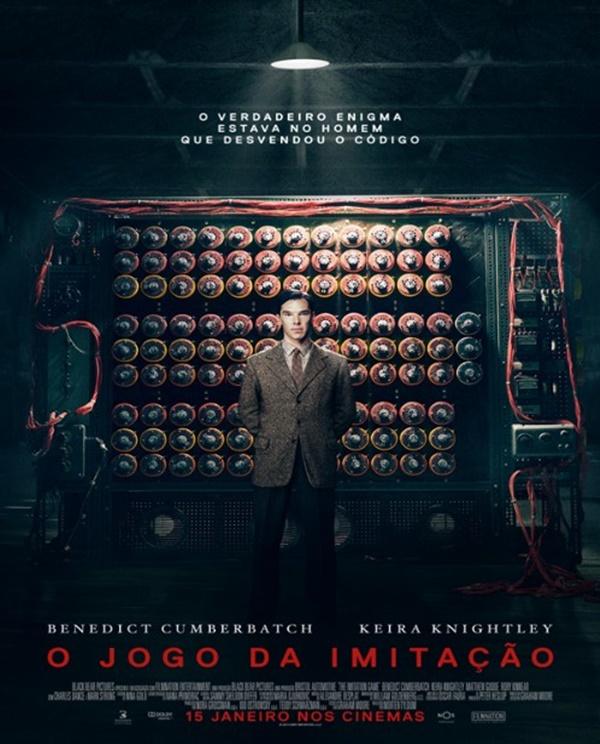 O Jogo da Imitação (2014) – Baseado na história real do criptoanalista inglês Alan Turing, o filme narra a corrida do pai da computação e sua equipe para decifrar códigos nazistas durante a Segunda Guerra Mundial. - Crédito: Divulgação/33Giga/ND