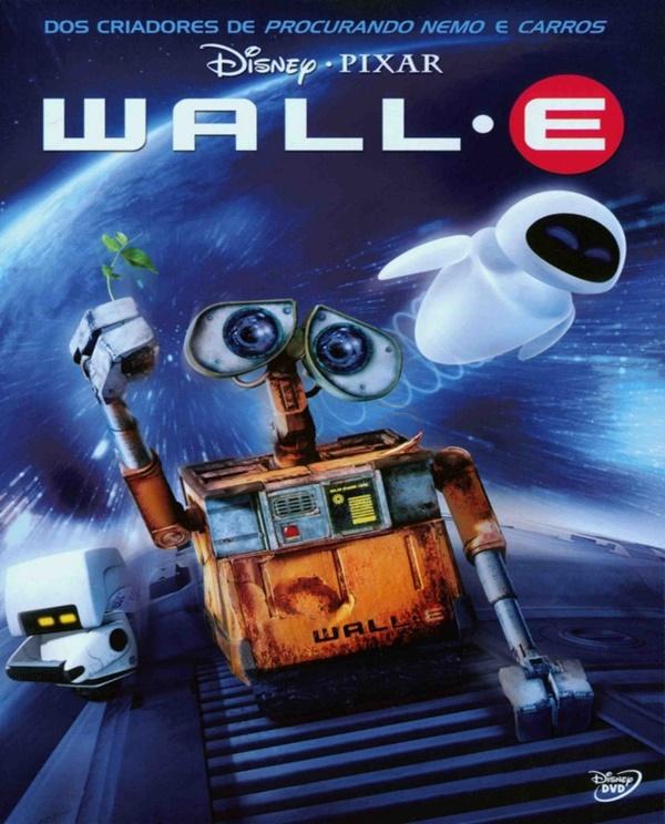 WALL-E (2008) – A animação produzida pela Pixar Animation Studios segue o robô WALL-E em sua missão de limpar o planeta terra para que ele seja habitável novamente. O que o simpático personagem não esperava era se apaixonar por EVA, uma sonda enviada pela nave na qual os humanos vivem agora. Quando percebe, o robozinho está no espaço para viver uma aventura capaz de mudar o destino da raça humana. - Crédito: Divulgação/33Giga/ND