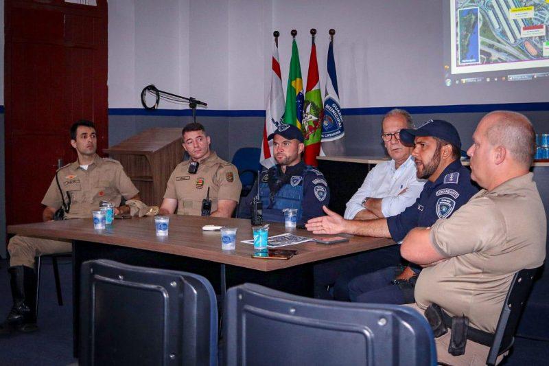 Encontro reuniu diversos órgãos de Segurança e mobilidade de Florianópolis. Foto: Divulgação/GMF