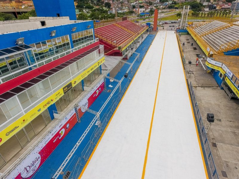 Complexo Nego Quirido está pronto para receber as escolas de samba da Grande Florianópolis – Foto: Flávio Tin/ND