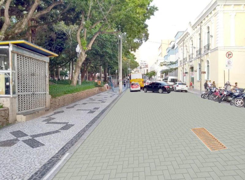 Prefeitura prepara adequações ao projeto de revitalização da ala leste do Centro Histórico de Florianópolis – Foto: Divulgação/ND