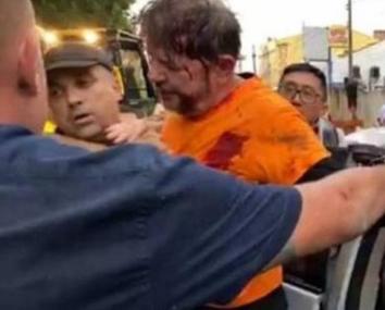 Senador Cid Gomes foi alvo de tiros ao tentar romper bloqueio de policiais amotinados em batalhão, em Sobral – Foto: Reprodução/Redes Sociais/ND
