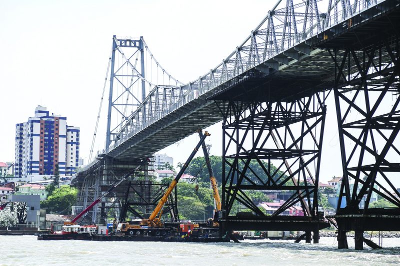 Entrega da reforma da Ponte Hercílio Luz é adiada para maio – Foto: Anderson Coelho/ND