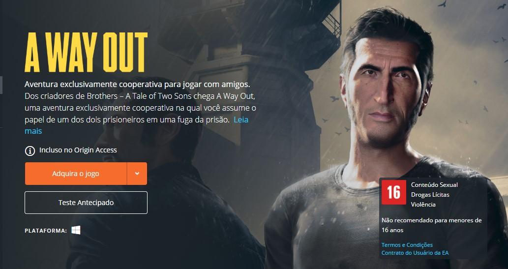 A Way Out (PlayStation 4, Xbox One, PC) - Reprodução /33Giga/ND