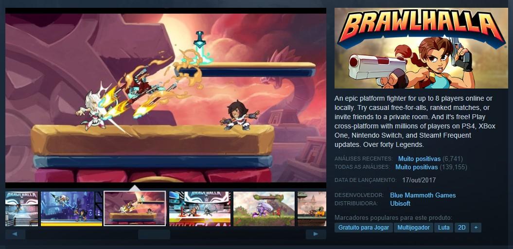 Brawlhalla (PlayStation 4, Nintendo Switch, Xbox One, PC) - Reprodução /33Giga/ND