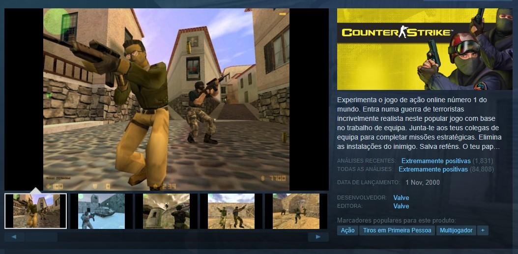 Counter-Strike (PC) - Reprodução /33Giga/ND