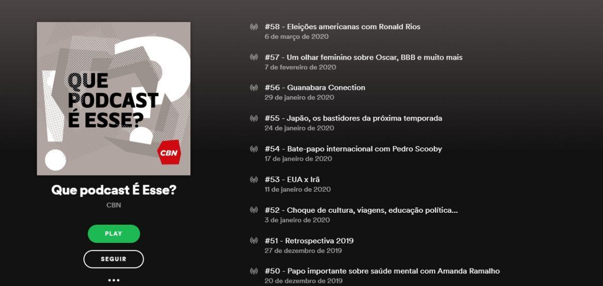 Que Podcast é Esse? - Reprodução/33Giga/ND