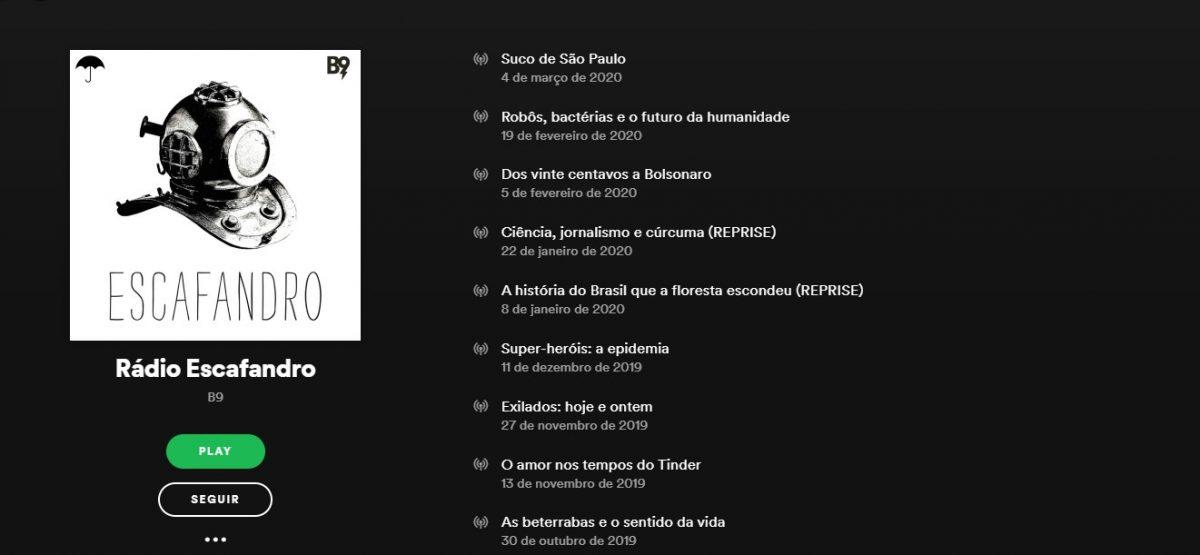 Rádio Escafandro - Reprodução/33Giga/ND