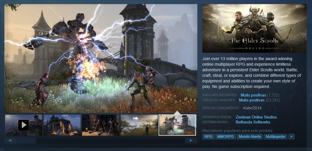 The Elder Scrolls Online (PlayStation 4, Xbox One, Google Stadia, PC) - Reprodução /33Giga/ND