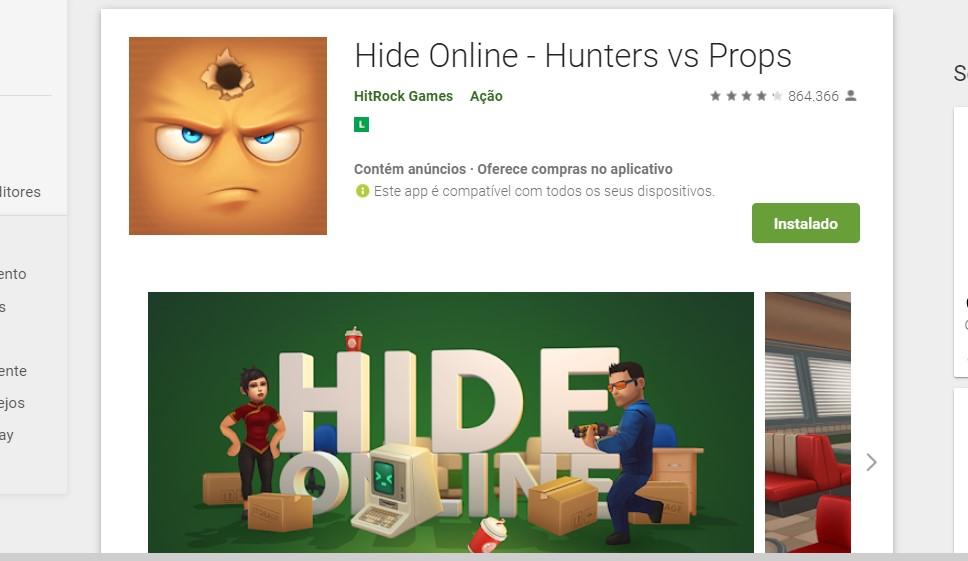 Hide Online - Hunters vs Props (Android, iOS) - Reprodução /33Giga/ND