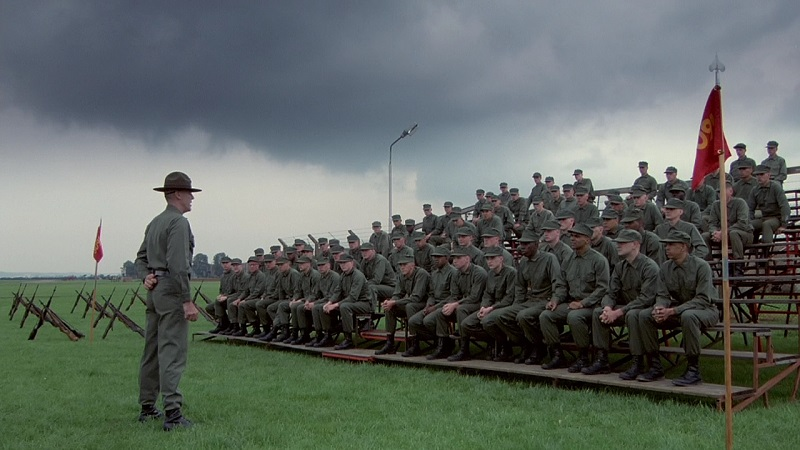 2017 – Proibido no Vietnã, Nascido para Matar (1987) acompanha o treinamento pesado de recrutas antes de serem enviados para a Guerra do Vietnã. - Crédito: Divulgação/33Giga/ND