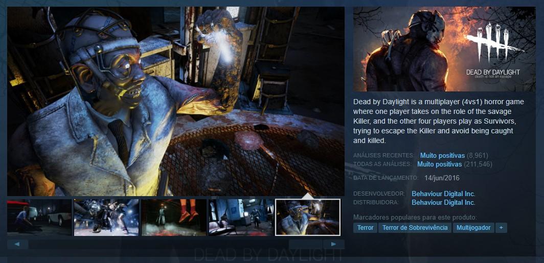 Dead by Daylight (PlayStation 4, Nintendo Switch, Xbox One) - Reprodução /33Giga/ND