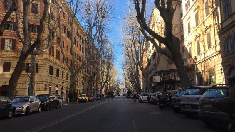 Via Merulana, em Roma, também vazia – Foto: Juliana Kroeger/Divulgação/ND
