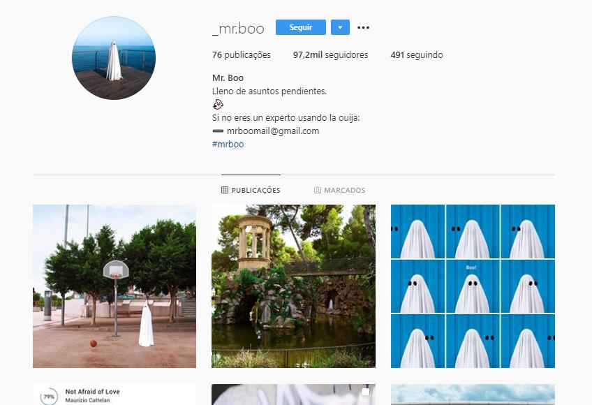 50 perfis aleatórios para seguir no Instagram: @_mr.boo_ - Reprodução /33Giga/ND