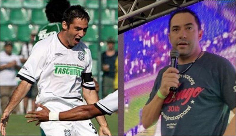 O zagueiro Chicão comemora gol pelo Figueirense em 2007 | Hoje, aos 38 anos, ele está aposentado - Reprodução